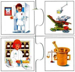 dentist pharmacist flash cards for kids