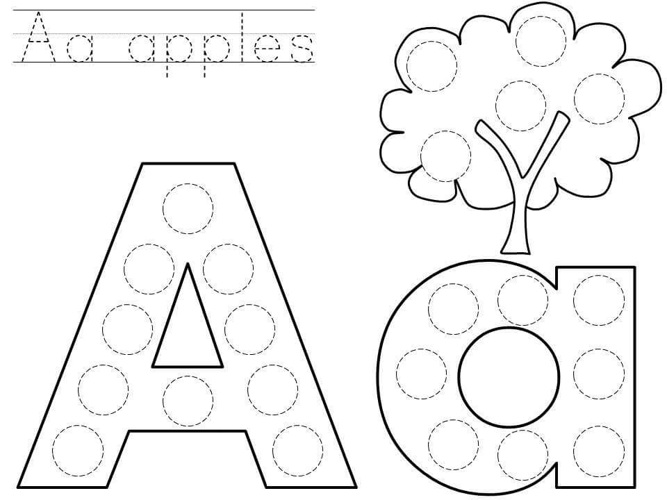 Alphabet do a dot printables » do-a-dot-letter-a-printable