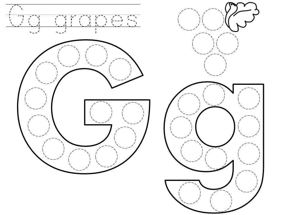 Alphabet do a dot printables » do-a-dot-letter-g-printable