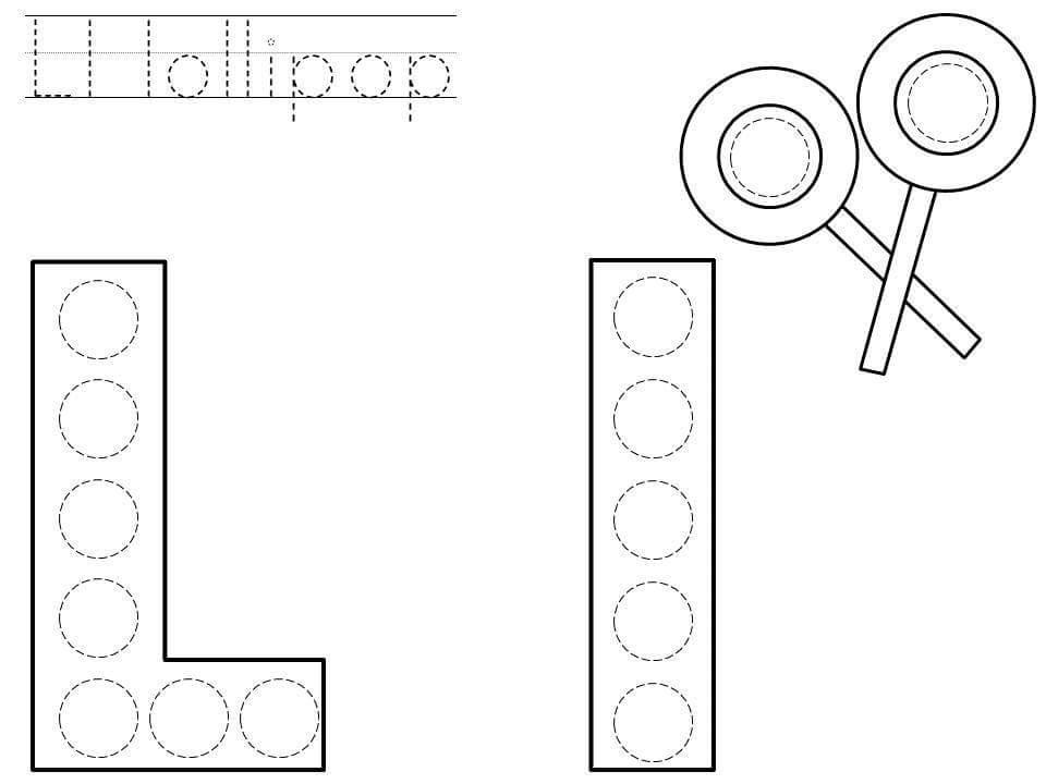 Alphabet do a dot printables » do-a-dot-letter-l-printable