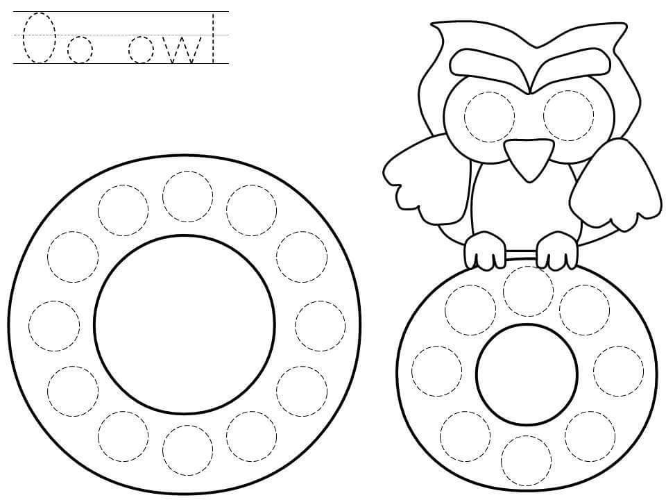 Alphabet do a dot printables » do-a-dot-letter-o-printable