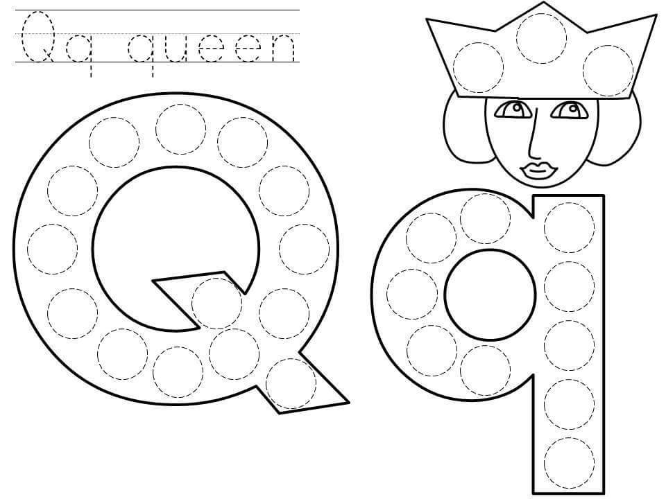 Alphabet do a dot printables » do-a-dot-letter-q-printable
