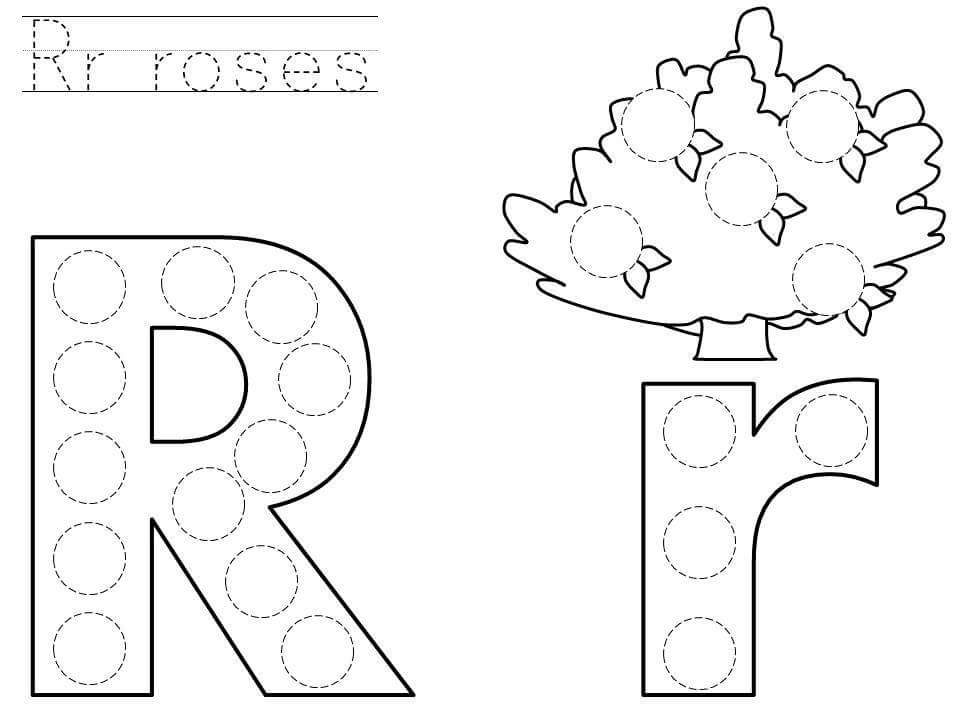 Do-a-dot-letter-r-printable « Funnycrafts