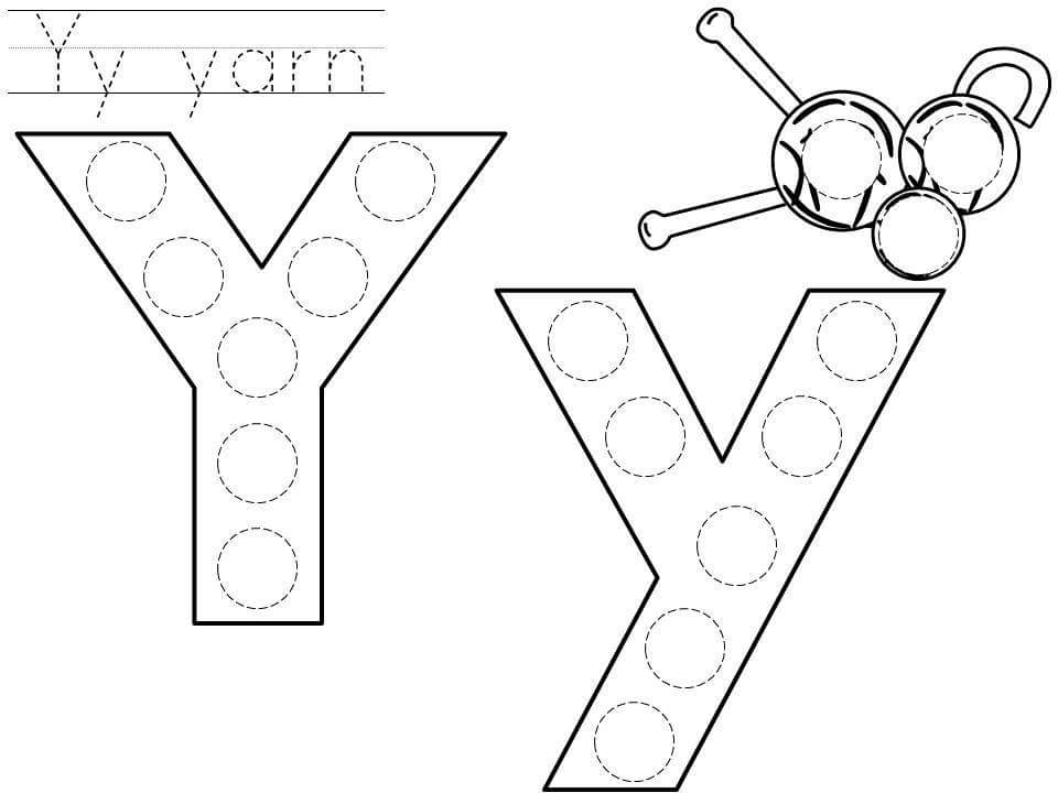 Do A Dot Letter Y Printable on Free Fall Do A Dot Printables
