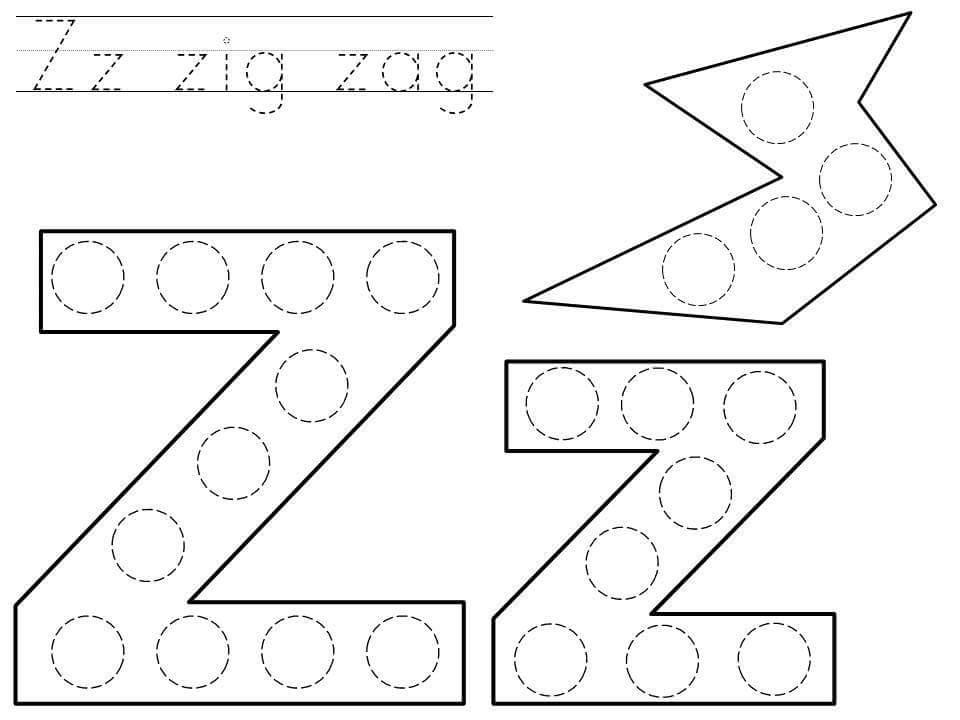 Alphabet do a dot printables » do-a-dot-letter-z-printable