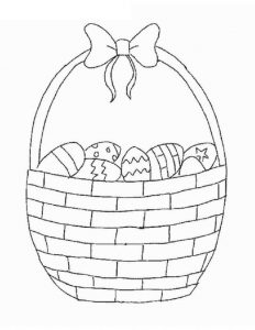 easter basket coloring pages 1