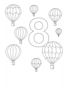 eight-coloring-page