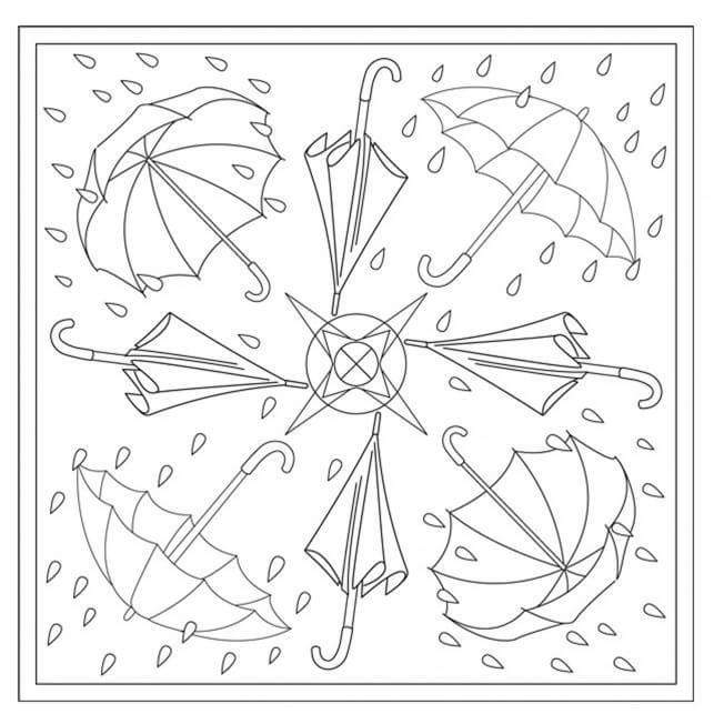 Fall mandala coloring pages 6 funnycrafts for Autumn mandala coloring pages