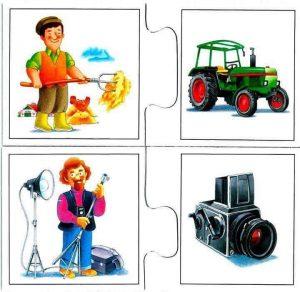 farmer photographer flashcards for kids