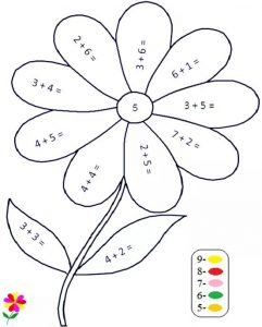 flower-addition-color-by-number