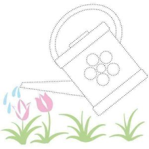 flower-watering-tracing-sheet