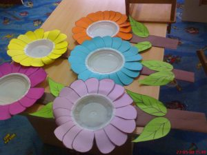 flowers-paper-plate-bulletin-board-ideas