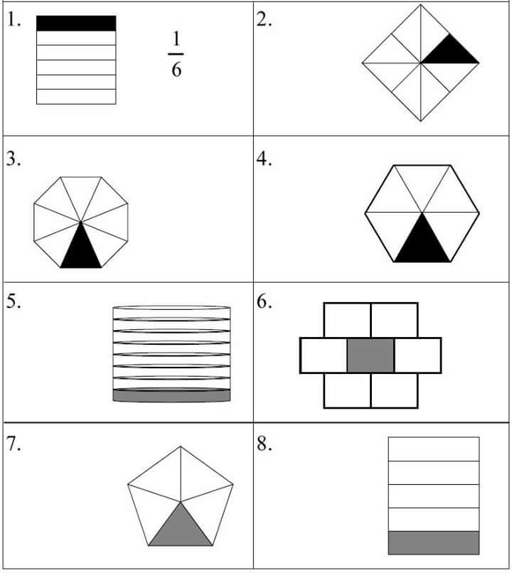 fraction worksheet for kids 2 funnycrafts – Fraction Worksheets for Kids