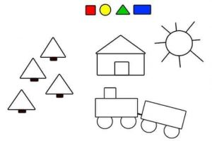 funny shapes coloring page