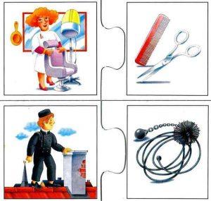 hairdresser flash cards for kids
