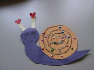 heart paper snail craft