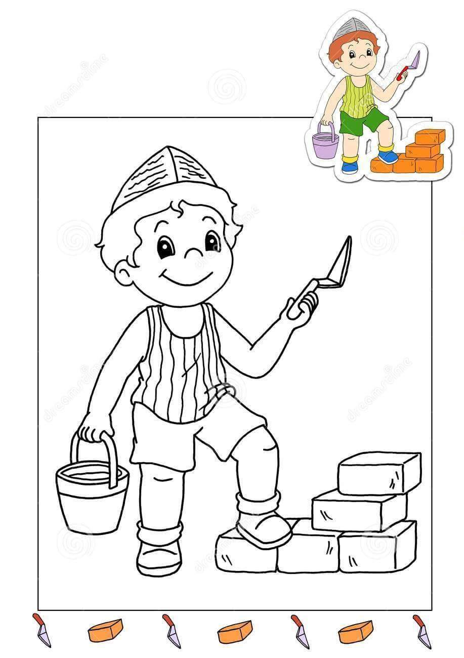 Coloring book jobs - Jobs Coloring Pages Jobs Coloring Page