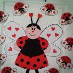 Ladybug Crafts For Preschool Door Decoration