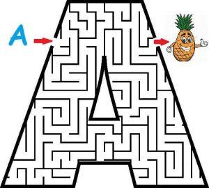 letter A maze (3)