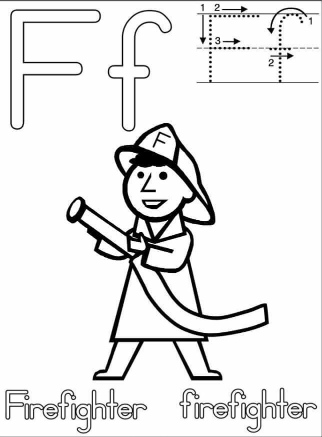 letter f handwriting worksheets for preschool funnycrafts. Black Bedroom Furniture Sets. Home Design Ideas