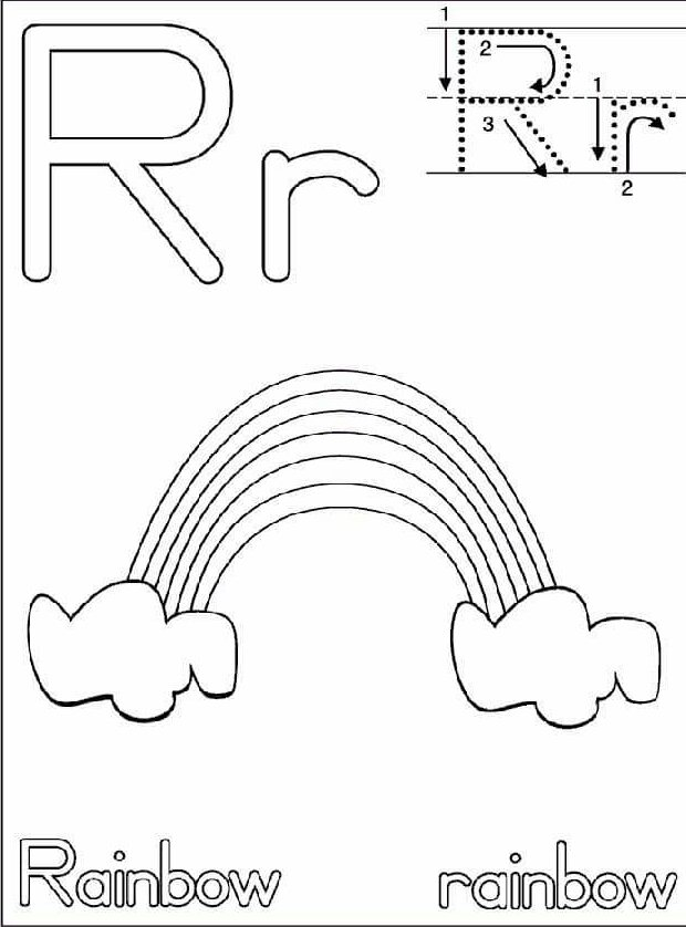 letterrhandwritingworksheetsforchildren funnycrafts – Letter R Worksheets for Kindergarten