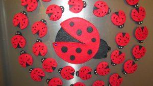 magnet ladybug craft