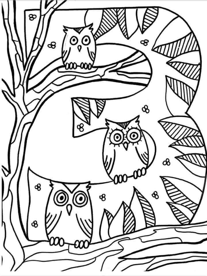 Number 3 Coloring Page Funnycrafts