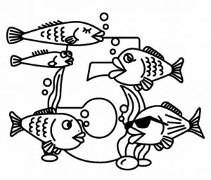 number-five-coloring-pages