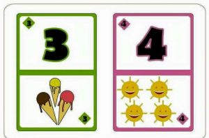 number flash cards for primary school