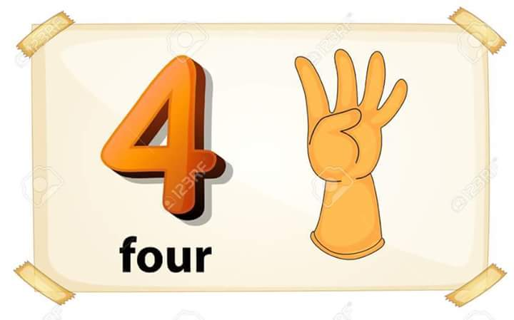 Counting numbers with flashcards » number-flashcards-printable-1-10