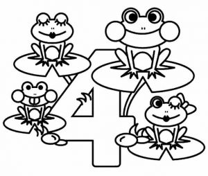 number-four-coloring-pages