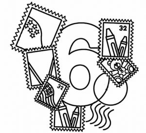 number-six-coloring-pages
