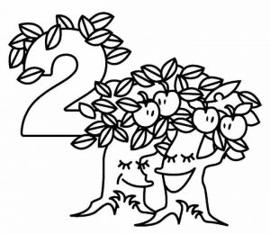 number-two-coloring-pages