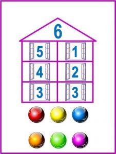 numeric houses free printables (1)
