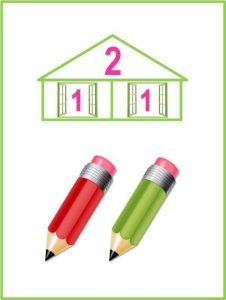numeric houses free printables (2)
