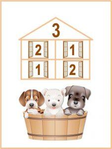 numeric houses free printables (4)