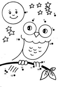 owl dot to dot sheet