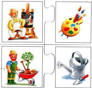 painter gardener flash cards for kids