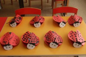 paper roll ladybug  craft