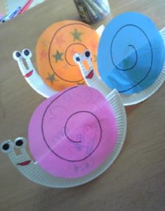 plastic plate snail crafts (2)