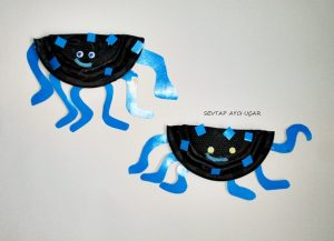 plastic-plate-spider-craft