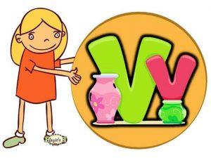 preschool-big-and-small-letter-v-printable