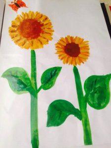 printmaking-sunflower-art