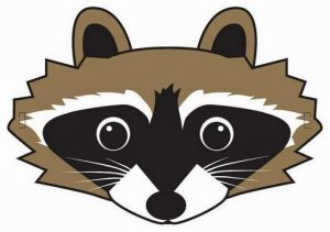 racoon-mask-template