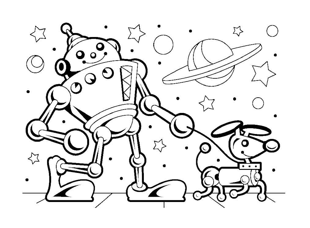 Robot coloring pages for kids 13 Funnycrafts