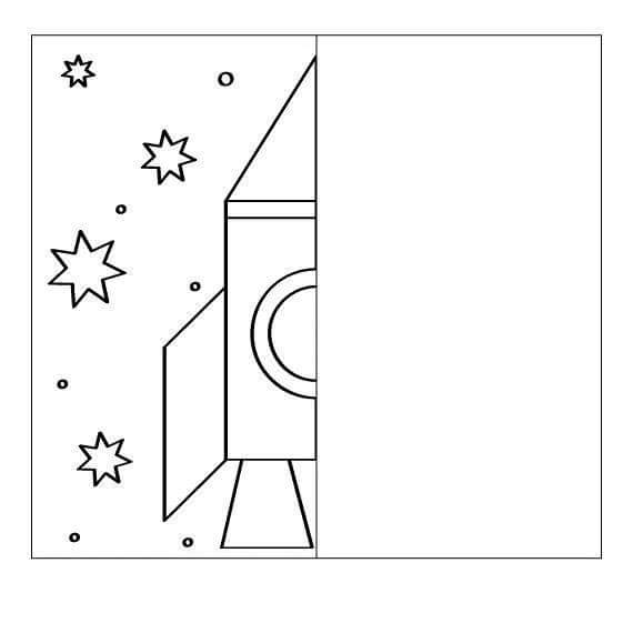 Rocket Drawing Symmetry Worksheets on Preschool Shapes