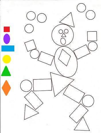 shapes coloring pages 2