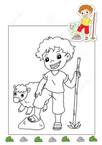 shepherd-coloring-page