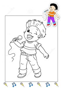 singer-coloring-page