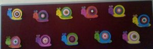 snail bulletin board idea